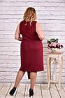 бордовый костюм двойка: платье и накидка   0613-3 батал, фото 4