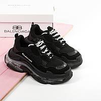 Новинка! Женские кроссовки в стиле Balenciaga Triple S Clear Sole Black (36, 37, 38, 39, 40 размеры)