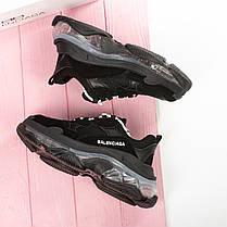 Новинка! Женские кроссовки в стиле Balenciaga Triple S Clear Sole Black (36, 37, 38, 39, 40 размеры), фото 2