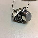 Кольцо лунный камень адуляр в серебре кольцо с лунным камнем 18,5-19 размер Индия, фото 7