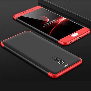 Чохол GKK 360 для Meizu M6 Note Чорно-червоний