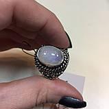 Кольцо лунный камень адуляр в серебре кольцо с лунным камнем 18,5-19 размер Индия, фото 6