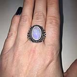 Кольцо лунный камень адуляр в серебре кольцо с лунным камнем 18,5-19 размер Индия, фото 3
