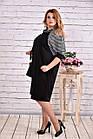 Вільне плаття чорного кольору з гусячої лапкою | 0615-3, фото 2