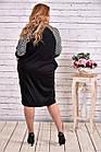Вільне плаття чорного кольору з гусячої лапкою | 0615-3, фото 4