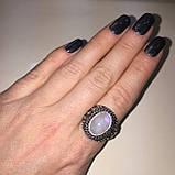 Кольцо лунный камень адуляр в серебре кольцо с лунным камнем 18,5-19 размер Индия, фото 2