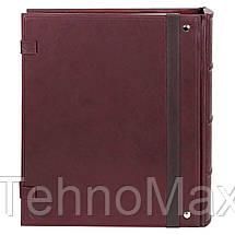 Семейный альбом для фотографий МАКЕЙ, натуральная кожа, магнитный блок, фото 3