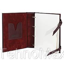 Семейный альбом для фотографий МАКЕЙ, натуральная кожа, магнитный блок, фото 2