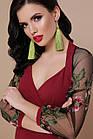 Платье миди с красивыми ажурными рукавами Сукня міді з гарними ажурними рукавами, фото 3