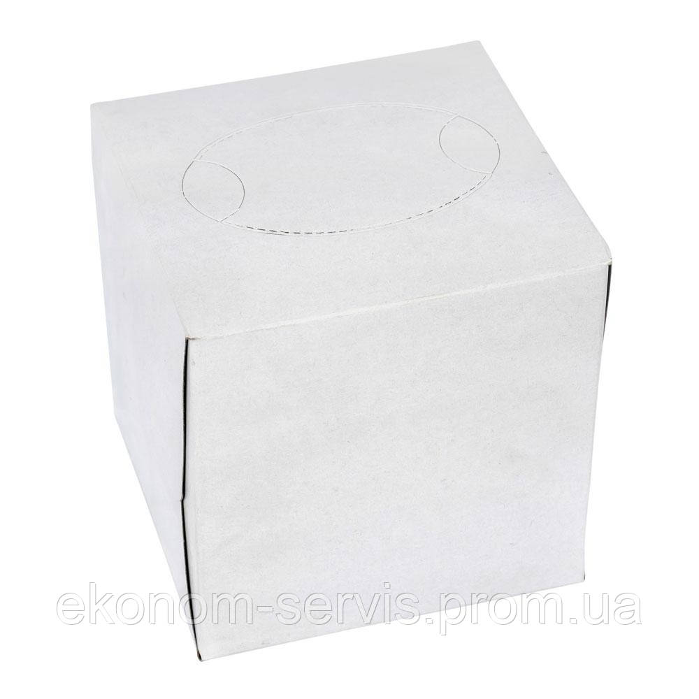 Салфетка косметическая V-сложение в кубе, 20*20, белая без рисунка, 100 шт
