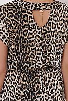 Длинное  платье в пол  Влада леопард светлый Размеры   52, 54, 56, 58., фото 2
