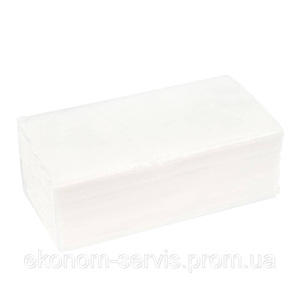 Полотенце бумажное ПП V-сложение белый, целюлоза 1сл.(150 л.)