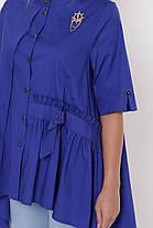 Рубашка женская Уля  электрик Размеры 52, 54, 56, 58. , фото 2