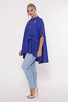 Рубашка женская Уля  электрик Размеры 52, 54, 56, 58. , фото 3