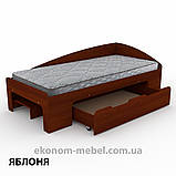 Односпальная кровать-90+1 с выдвижными ящиками для белья и бортиками, фото 6