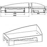 Односпальная кровать-90+1 с выдвижными ящиками для белья и бортиками, фото 3