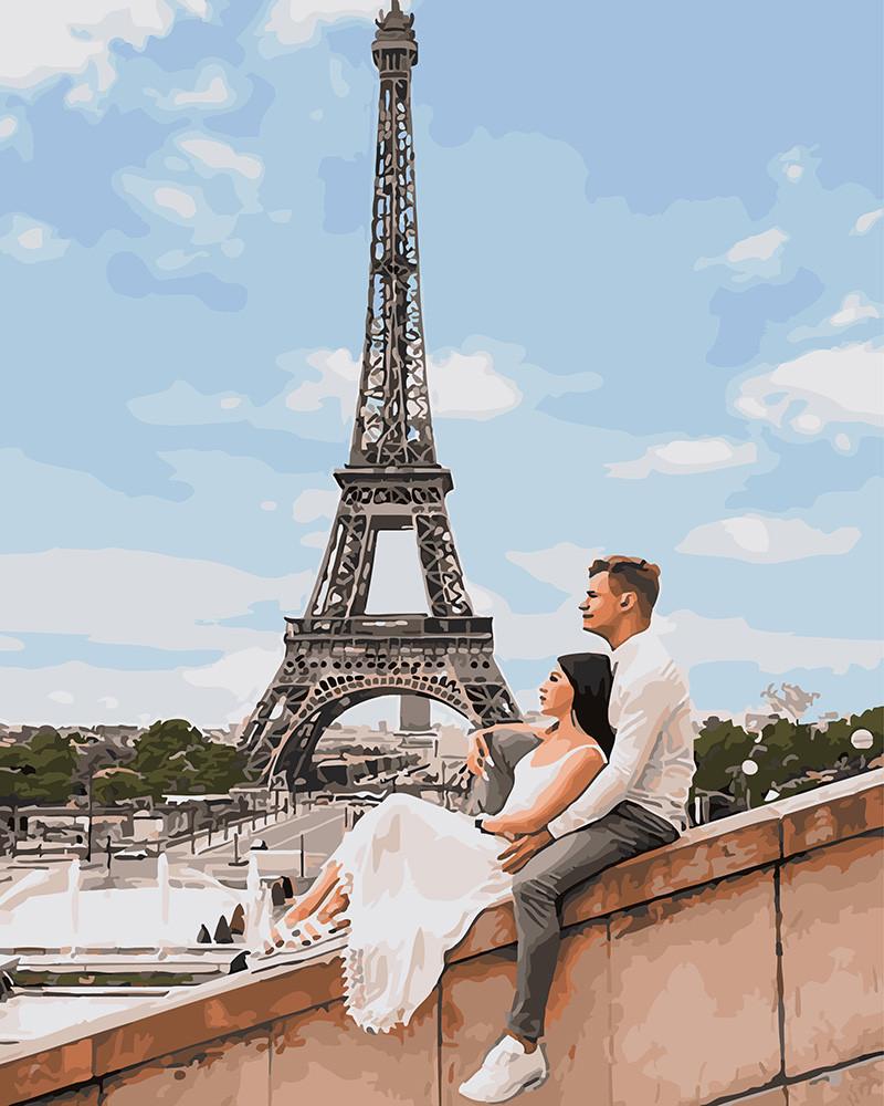 Картина по номерам Куровский и Литвин в Париже, 40x50 см., Brushme