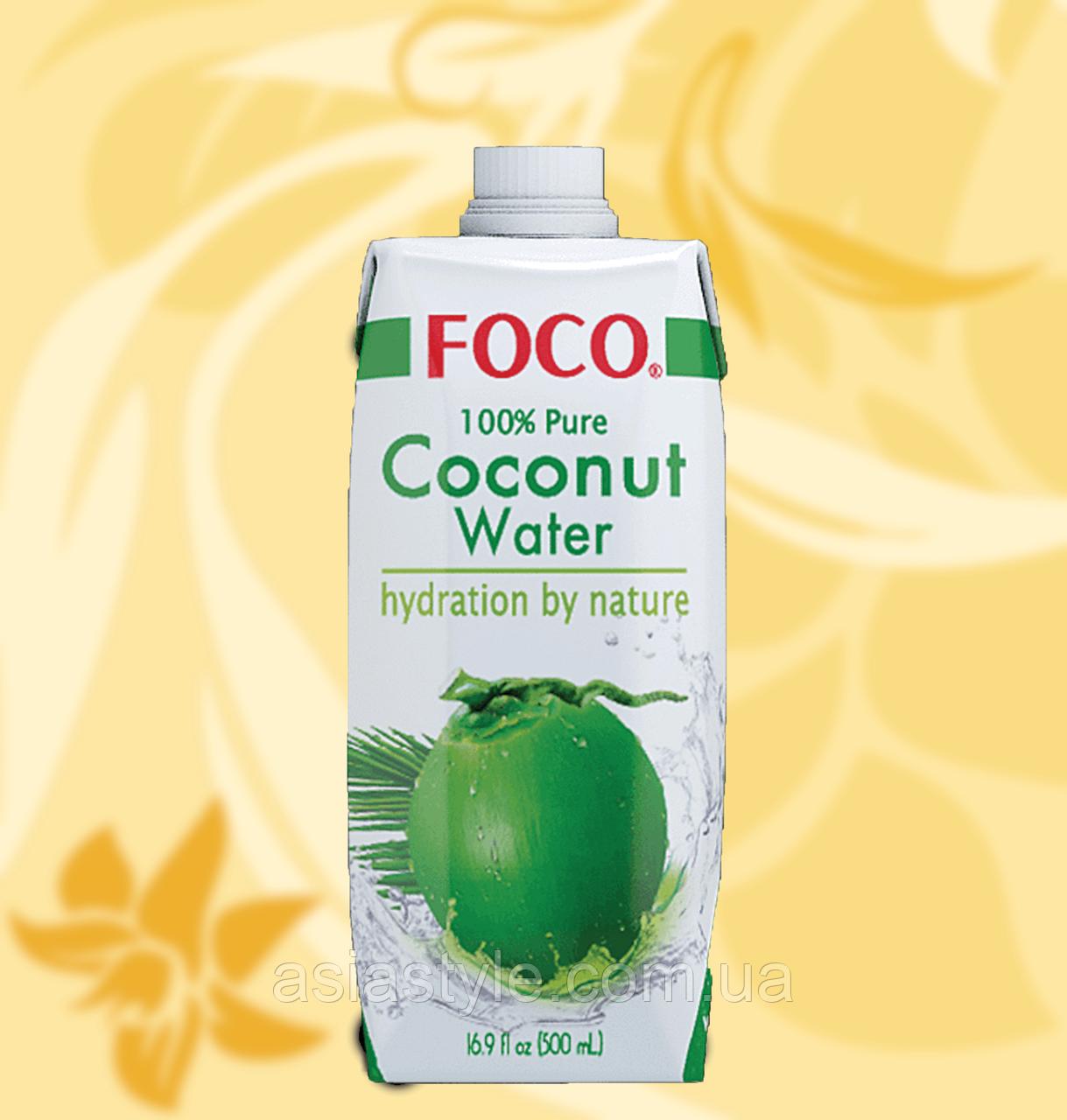 Вода Кокосова, Foco, 500 мл, В'єтнам, АФ
