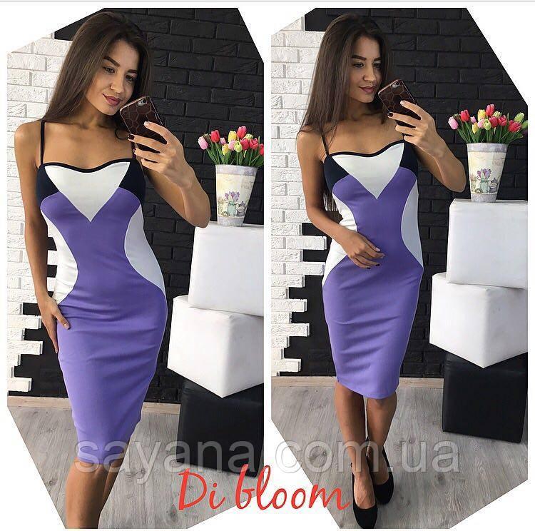 Женское платье с декором в расцветках. Ю-104-0417
