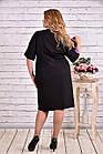 Сиреневое с черным платье, которое стройнит | 0622-1 батал, фото 4