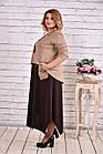 Коричневе плаття максі   0623-1, фото 2