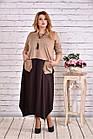 Коричневе плаття максі   0623-1, фото 3