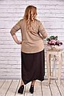 Коричневе плаття максі   0623-1, фото 4