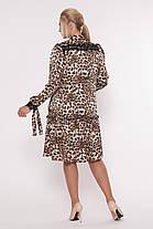 Платье с длинным рукавом Лея леопард Размеры 50, 52, 54, 56., фото 3