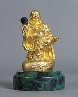 Статуэтка позолоченная из латуни  Будда