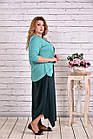 Зеленое платье макси | 0623-3 большой тразмер, фото 2