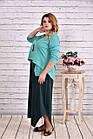 Зеленое платье макси | 0623-3 большой тразмер, фото 3