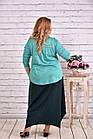Зеленое платье макси | 0623-3 большой тразмер, фото 4
