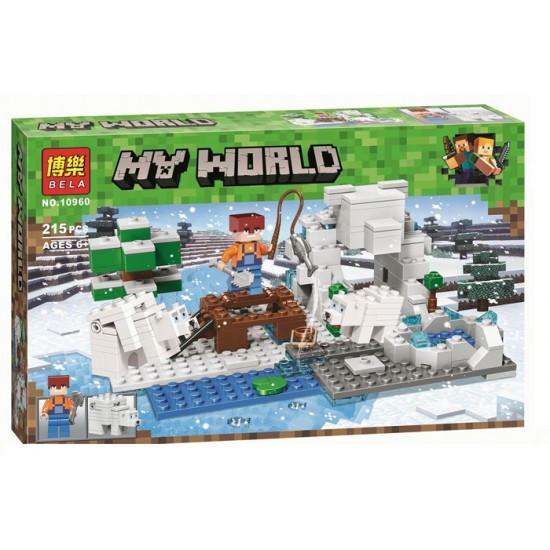 Конструктор Bela/Lele Minecraft 10960 Зимняя рыбалка 215 деталей