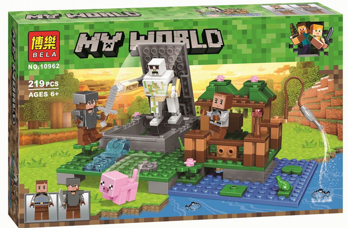 """Конструктор Bela/Lele Minecraft 10962 """"Скелет на ферме"""" 219 деталей"""