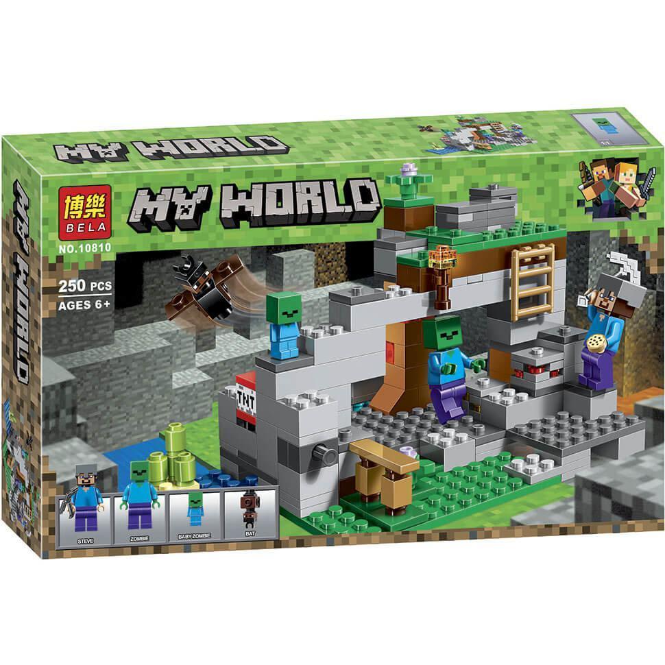 """Конструктор Bela/Lele Minecraft 10810 """"Пещера зомби"""" 250 деталей"""