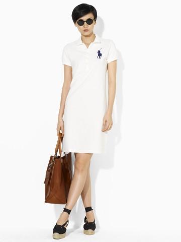 Ralph Lauren Polo женское платье платья 100% хлопок ралф лорен поло