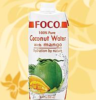 Вода Кокосова, Foco, с Манго, Coconut Water with Mango, 500 мл, В'єтнам, АФ