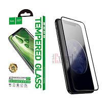 Защитное стекло Hoco 3D Nano Edges Protection Tempered Glass for iPhone X/XS Black (A1)