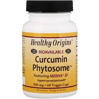 Куркумин фитосомный Meriva SF, 60 вегетарианских капсул Healthy Origins,