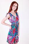 Модный сарафан с цветочным принтом ткань масло, фото 3