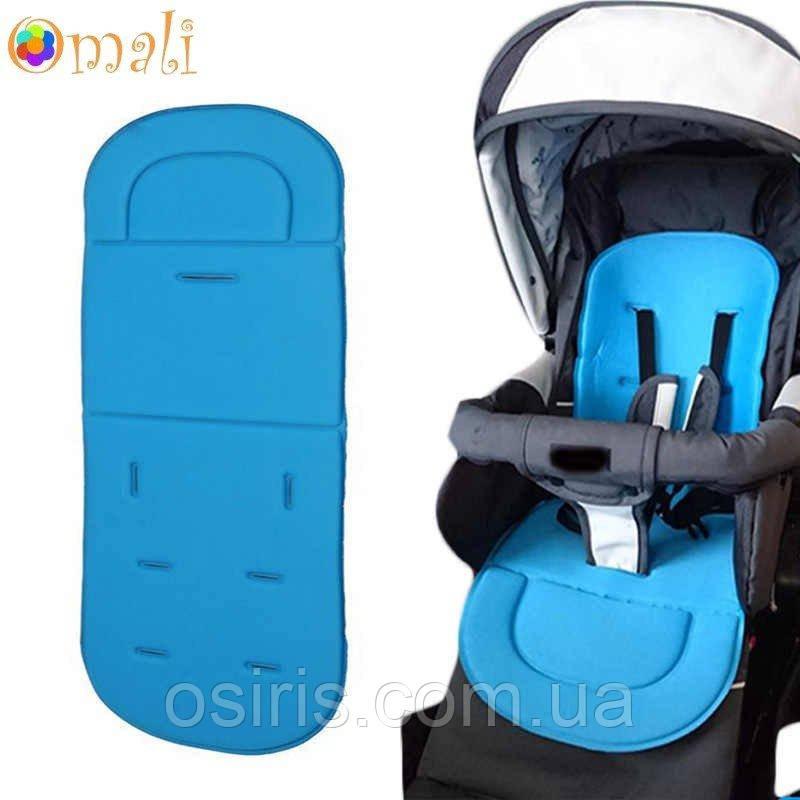 Вкладыш - матрасик в детскую коляску и автокресло «Soft» голубой