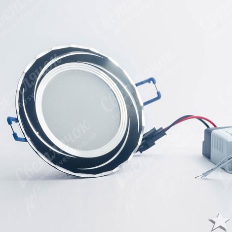 Светильник светодиодный встраиваемый 5w Feron AL777 4000К черный