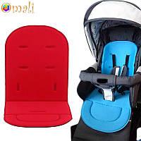 Вкладыш - матрасик в детскую коляску и автокресло «Soft» красный, фото 1