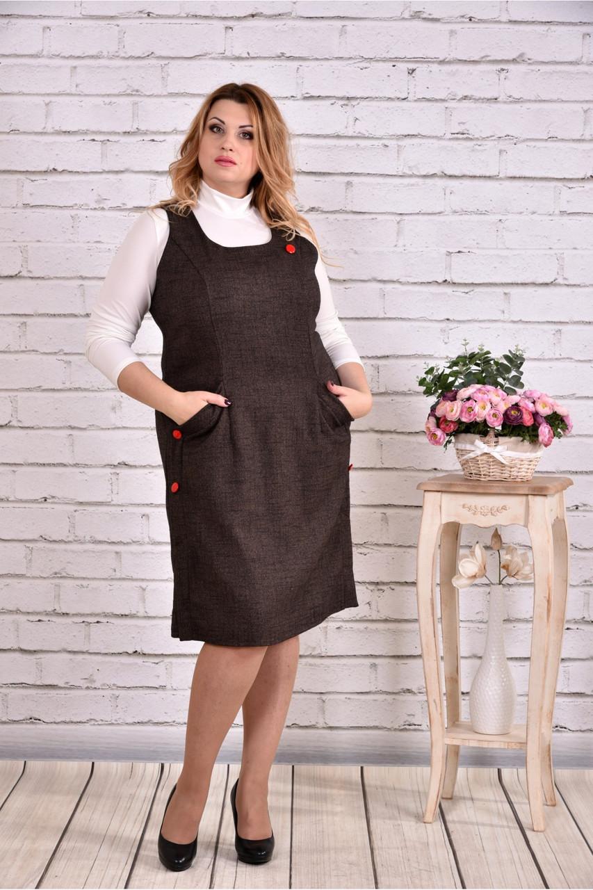 Коричневе плаття   0629-2   Гольфик окремо