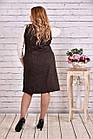 Коричневе плаття   0629-2   Гольфик окремо, фото 4