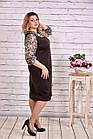 Коричневе плаття-мішок великий розмір | 0631-2, фото 3