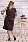 Коричневе плаття-мішок великий розмір | 0631-2, фото 4