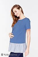 Модная туника для беременных и кормящих RIVA TN-29.012, джинсово-синий., фото 1