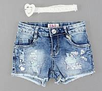 Джинсові шорти для дівчаток S&D, 4-12 років. [4 роки], фото 1