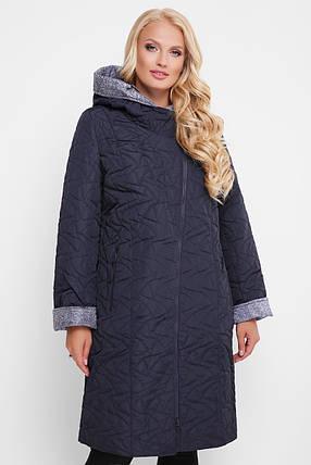 Демисезонное пальто Косуха черное Размеры 50, 52, 54, 56, 58, 60., фото 2